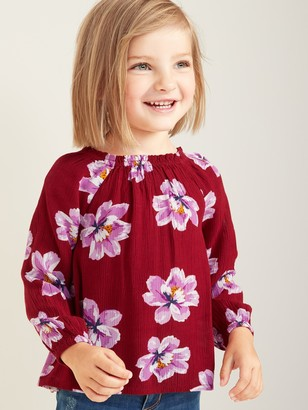 Old Navy Floral-Print Crinkle-Crepe Swing Top for Toddler Girls