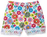 Flapdoodles Girls 4-6x) Floral Print Crochet Shorts