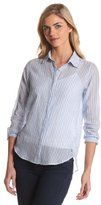 MiH Jeans Women's Swing Slim Front Cape Back Shirt