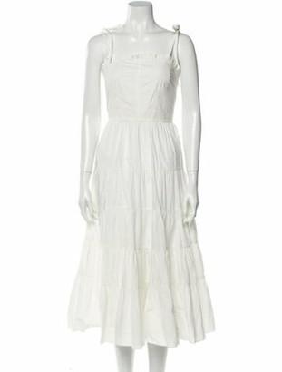 Ulla Johnson Square Neckline Midi Length Dress w/ Tags White