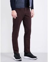 Canali Regular-fit Brushed-twill Chinos