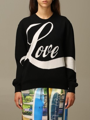 N°21 N 21 Sweater N ° 21 Sweater In Virgin Wool With Jacquard Love Writing