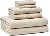 Peacock Alley 6-Pc Amalfi Towel Set, Linen