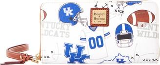 Dooney & Bourke NCAA Kentucky Large Zip Around Wristlet