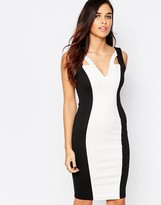 Jessica Wright Monochrome Pencil Dress