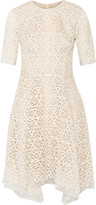 Lela Rose Guipure lace and organza dress