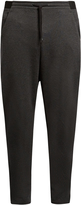 Y-3 Luxe dropped-crotch track pants