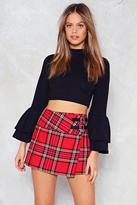 Nasty Gal Along the Lines Tartan Skirt