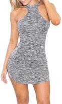 Eiffel Store Eiffel Women's Halter Neck Racerback Bandage Party Mini Dress Clubwear Skirt