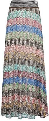 Missoni Zigzag high-rise knit midi skirt
