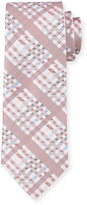 Robert Graham Angy Plaid Silk Tie, Red
