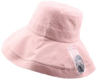 FENGFA Summer Ladies Bucket Hat Sun Hat Foldable Wide Brim Travel Beach Bush Cap (Beige)