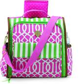 Mud Pie Back Pack, Pink/Green