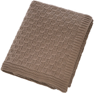 Retreat - Tile Knit Throw - Chestnut