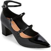 Tahari Black Rebecca Block Heel Pumps