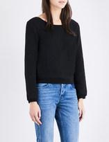 Claudie Pierlot Trendy lace-detail cotton-jersey top