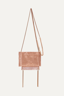 Saskia Diez Metallic Organza Shoulder Bag - Bronze