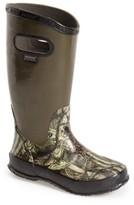 Bogs Boy's Hunting Waterproof Rubber Rain Boot