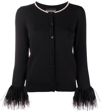 Boutique Moschino Embellished Fitted Cardigan