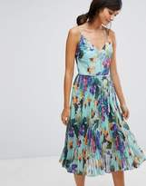 Oasis Tropical Pleat Midi Cami Dress