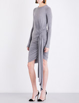 Alexandre Vauthier Ruched asymmetric stretch-jersey dress