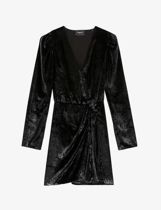 The Kooples Embellished velvet mini dress
