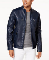 Calvin Klein Men's Perforated Faux-Leather Jacket