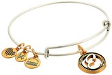 Alex and Ani Initial E Charm Bangle (Two-Tone) Bracelet