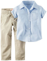 Carter's 2-Piece Shirt & Khaki Uniform Pant Set