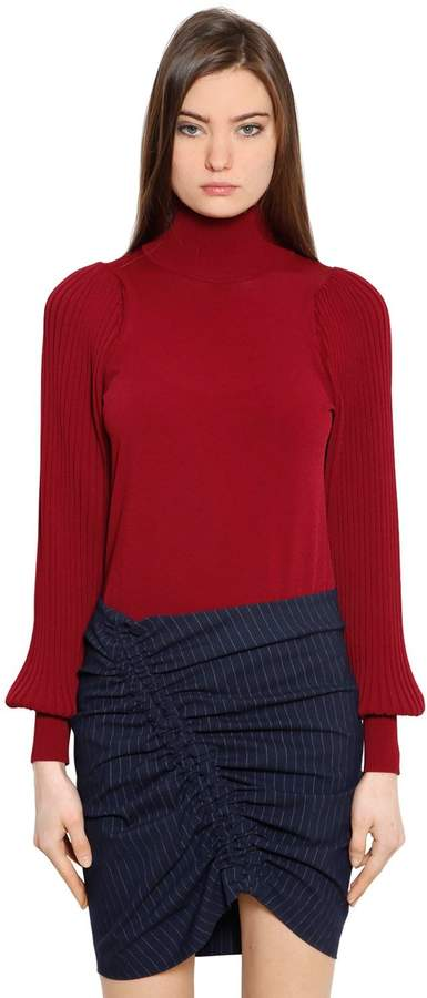 Designers Remix Gina Ribbed Sleeve Viscose Sweater