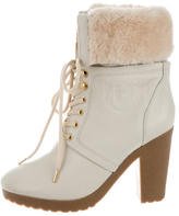 Hunter Chandler Lace-Up Ankle Boots