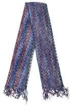 Missoni Wool Chevron Knit Scarf