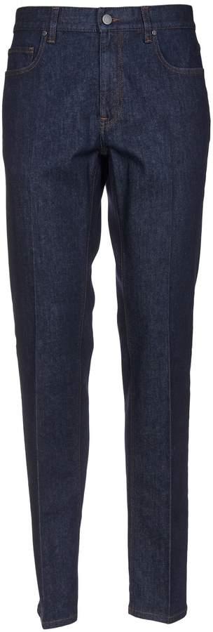 Ermenegildo Zegna Stitched Logo Jeans