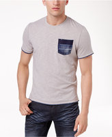INC International Concepts Men's Heathered Denim Pocket T-Shirt, Only at Macy's