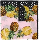 Dolce & Gabbana fruit pattern scarf - women - Cotton - One Size