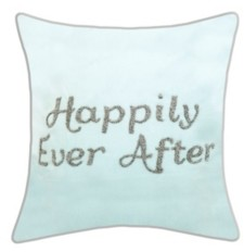 "Ediehome Edie@Home Celebrations Pillow Beaded ""Happily Ever After"""
