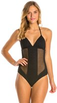 Vitamin A Esperanza Patterned Mesh One Piece Swimsuit 8135141