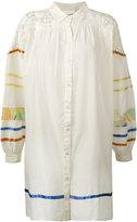 Semi-Couture Semicouture contrast stripe shirt dress