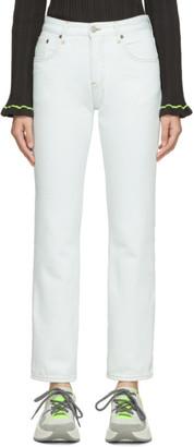 MM6 MAISON MARGIELA Blue Girlfriend Mid-Rise Jeans