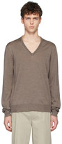 Maison Margiela Brown Spliced Sweater