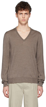 Maison Margiela Brown Spliced Sweater