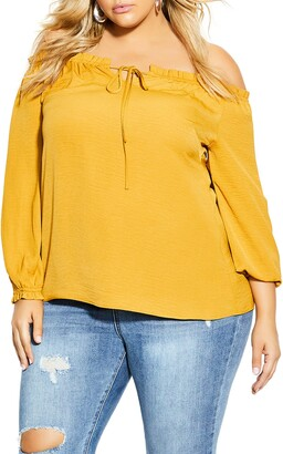 City Chic Sass Off-the-Shoulder Top