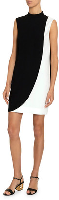 Givenchy Two-Tone Swoop Mini Dress