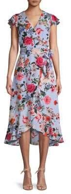 Vince Camuto Floral-Print Faux Wrap Dress