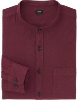 Uniqlo Men Flannel Stand Collar Long Sleeve Shirt