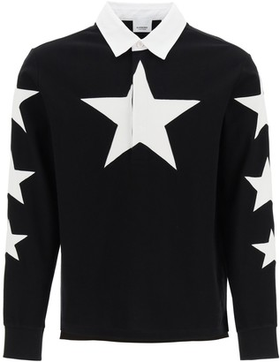 Burberry Long-Sleeve Star Motif Polo Shirt