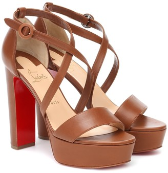Christian Louboutin Loubi Bee Alta leather platform sandals