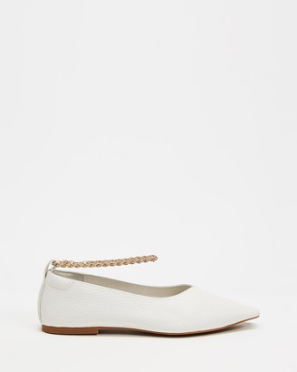 Senso Women's White Ballet Flats - Aubree II - Size One Size, 38 at The Iconic
