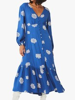 Ghost Astrid Floral Dress, Navy Clusters