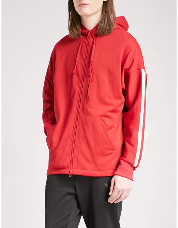 Y-3 Y3 three-stripe cotton-blend hoody